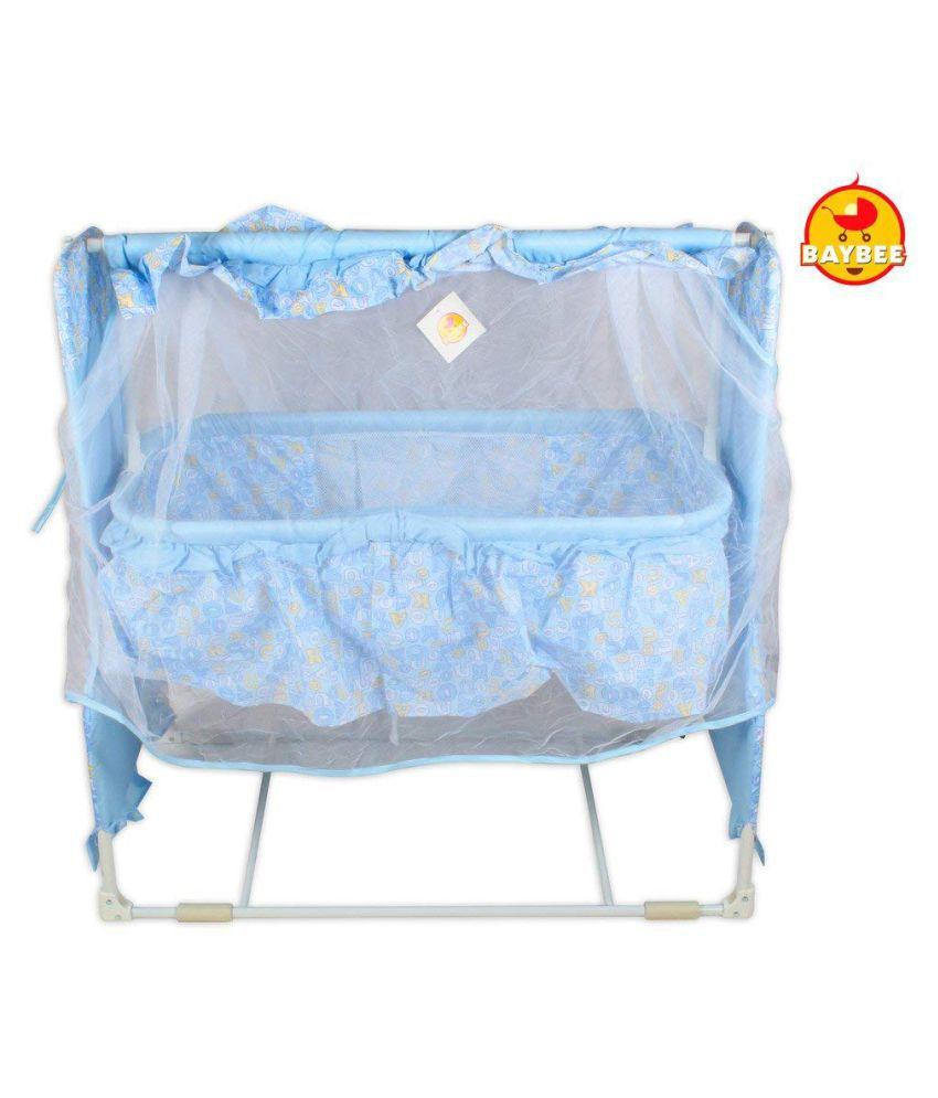 Baybee Sleep-Well Bassinet Cradle (Blue)