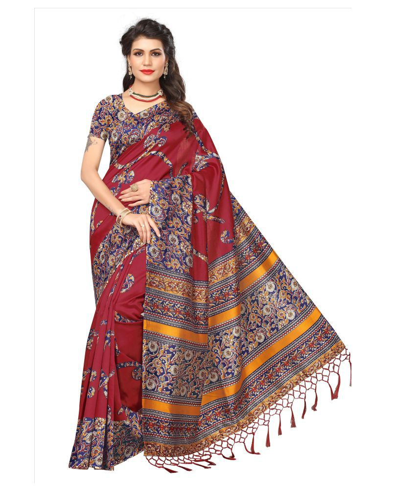Dipuva Fashion Red Mysore Silk Saree