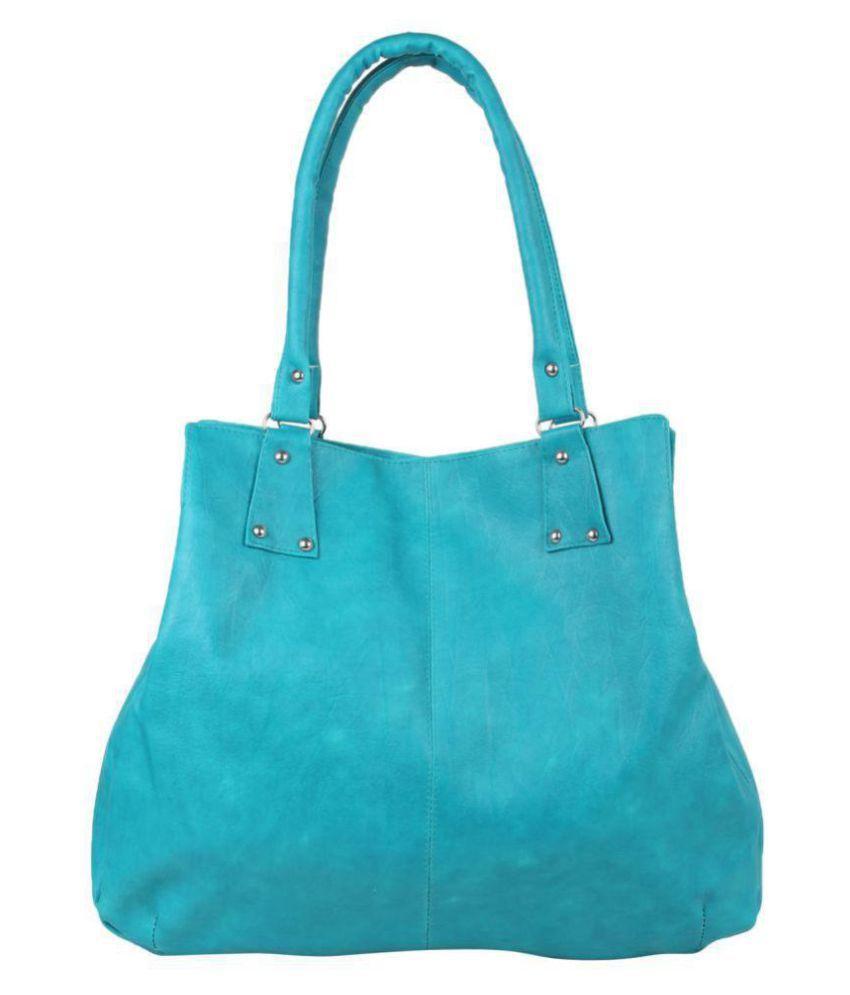 eklavya Sky Blue P.U. Shoulder Bag