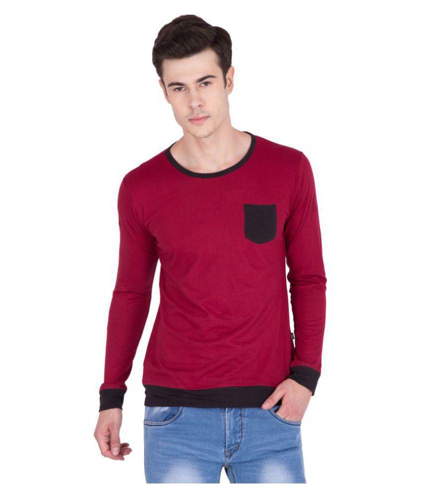 PAUSE Maroon Full Sleeve T-Shirt