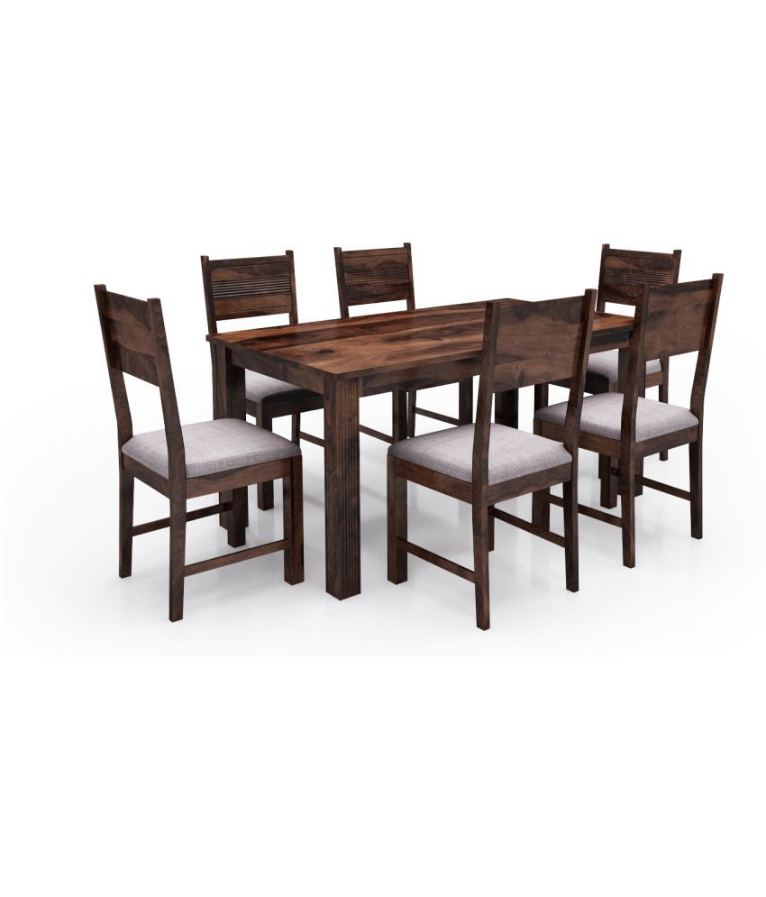 Alquiler Hove Sheesham Wood 6 Seater Dining Table Set Provincial