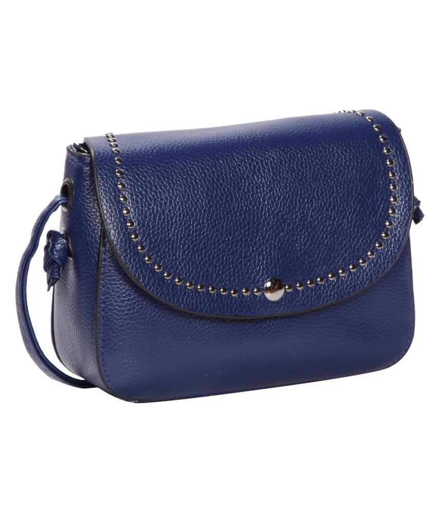 Bagkok Blue P.U. Sling Bag