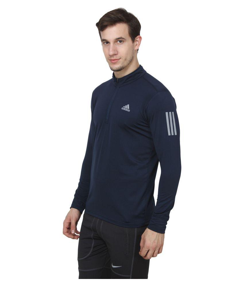 e76ad78c Adidas Navy Full Sleeve T-Shirt - Buy Adidas Navy Full Sleeve T-Shirt Online  at Low Price - Snapdeal.com