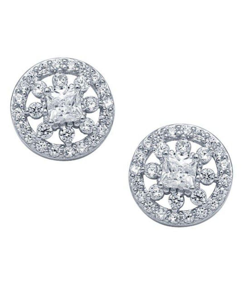 CS Jewellers 92.5 BIS Hallmarked Silver None Studs