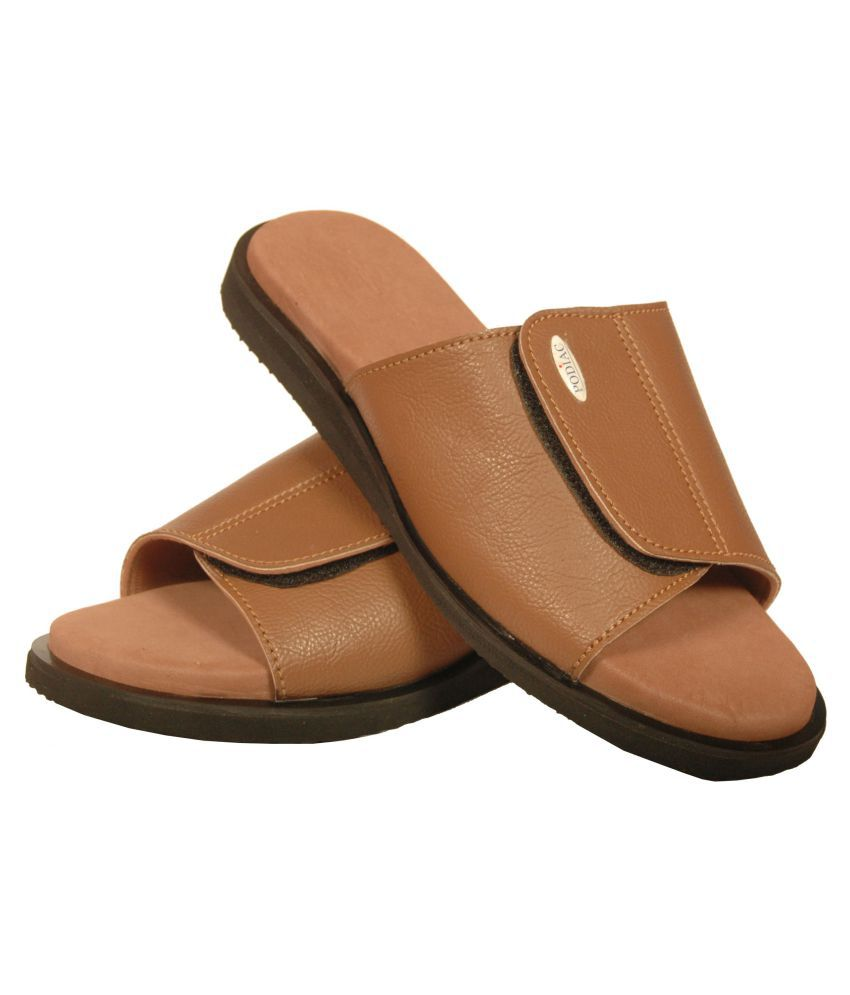 dedfedee714 PODIAC HARMONY MEN DIABETIC FOOTWEAR Brown Synthetic Leather Sandals Price  in India- Buy PODIAC HARMONY MEN DIABETIC FOOTWEAR Brown Synthetic Leather  ...