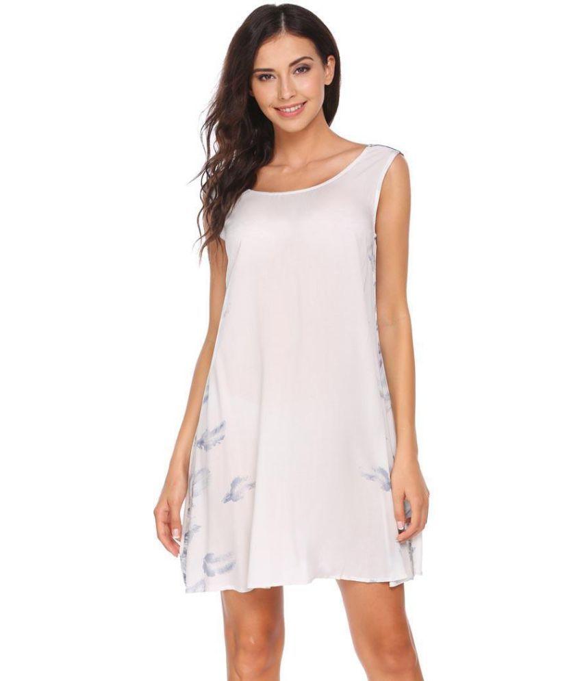 Generic Rayon white Asymmetric dress