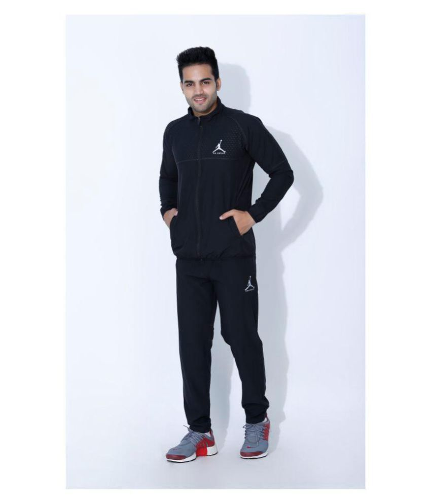 3d7ae645212c Nike Air Jordan Black Polyester Lycra Tracksuits - Buy Nike Air Jordan  Black Polyester Lycra Tracksuits Online at Low Price in India - Snapdeal