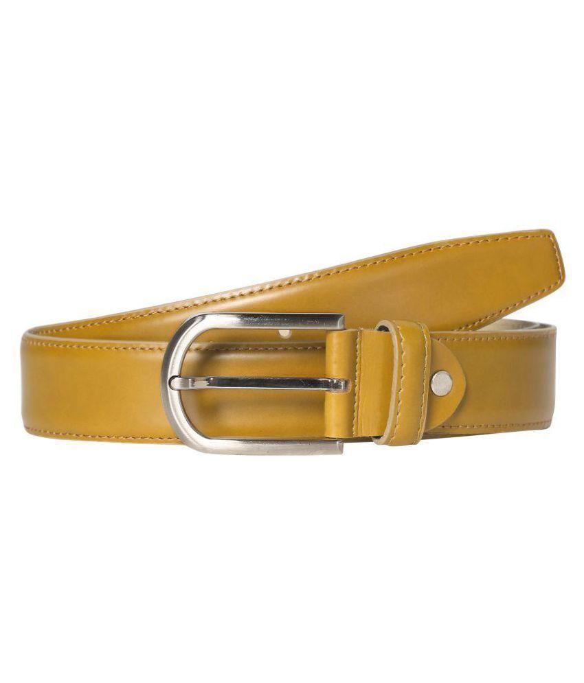 Scharf Brown Leather Formal Belt - Pack of 1