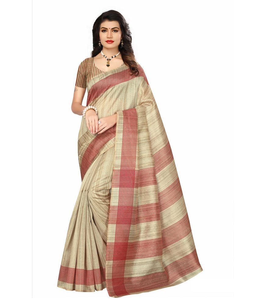 Umang NX Beige Bhagalpuri Silk Saree
