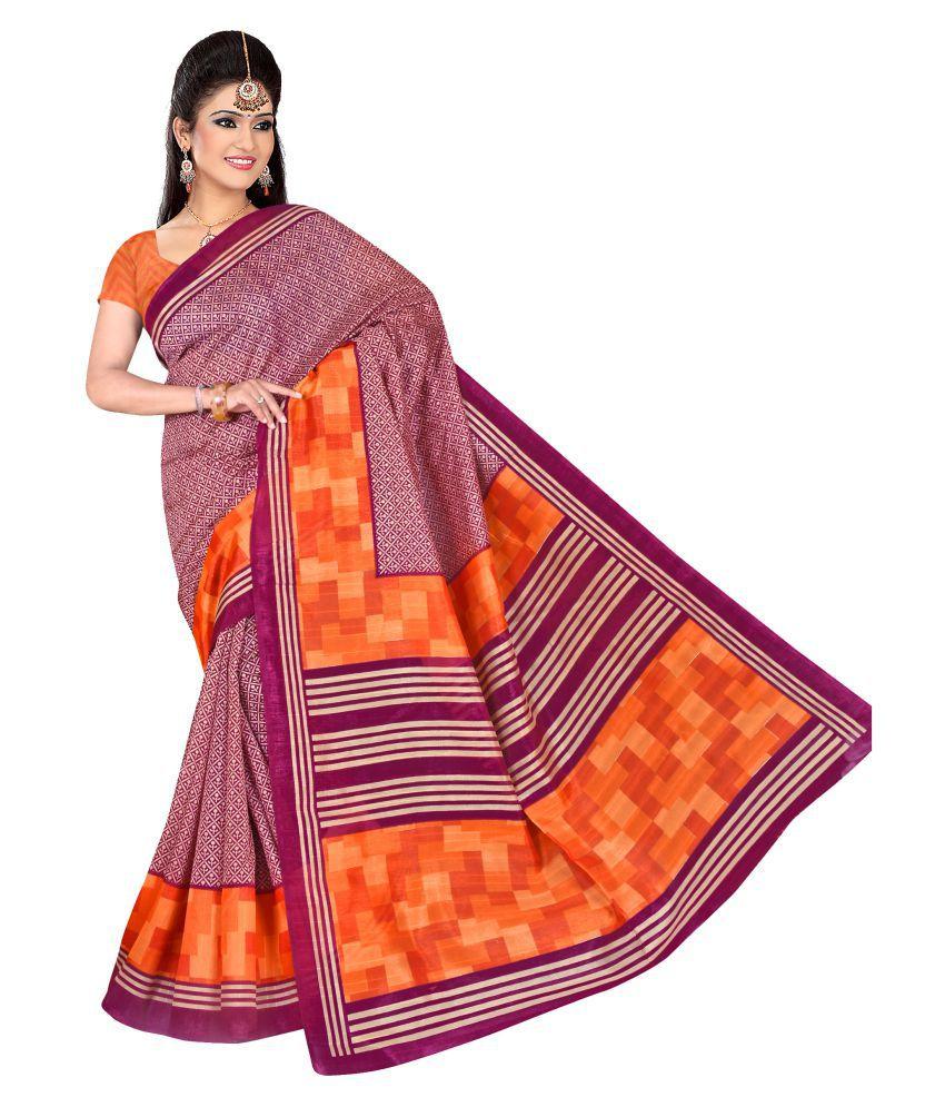 RamRang Multicoloured Bhagalpuri Cotton Saree