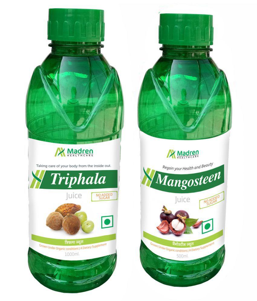 Madren Healthcare Triphala & Mangosteen Juice Health Drink 1500 ml
