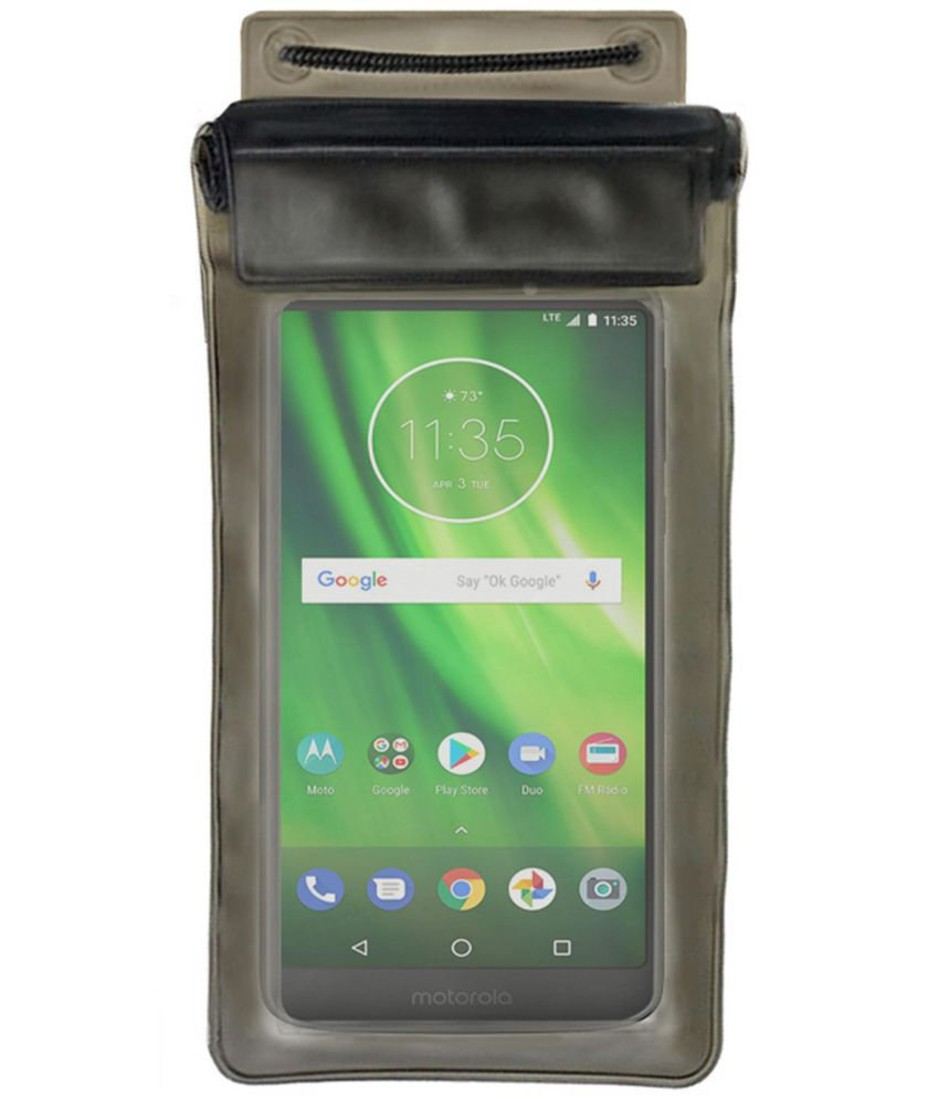 lowest price 4d019 7bf58 Moto G6 Play Holster Cover by ACM - Black Waterproof Bag,Water Proof Bag