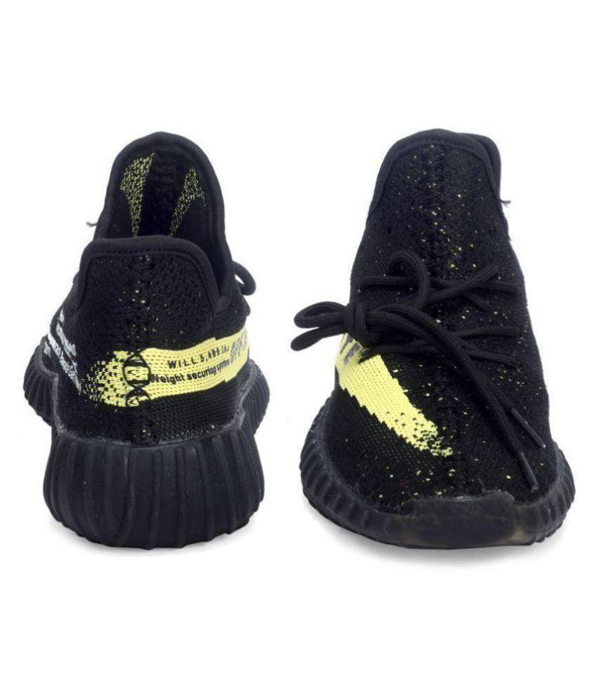 897fd0106 Adidas yezzy boost sply 350 (Off White) Black Running Shoes - Buy Adidas  yezzy boost sply 350 (Off White) Black Running Shoes Online at Best Prices  in India ...