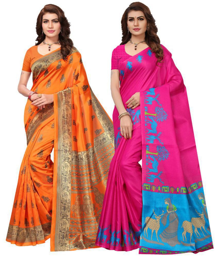 3effc158e35ac Ishin Multicoloured Silk Saree Combos - Buy Ishin Multicoloured Silk Saree  Combos Online at Best Prices in India on Snapdeal
