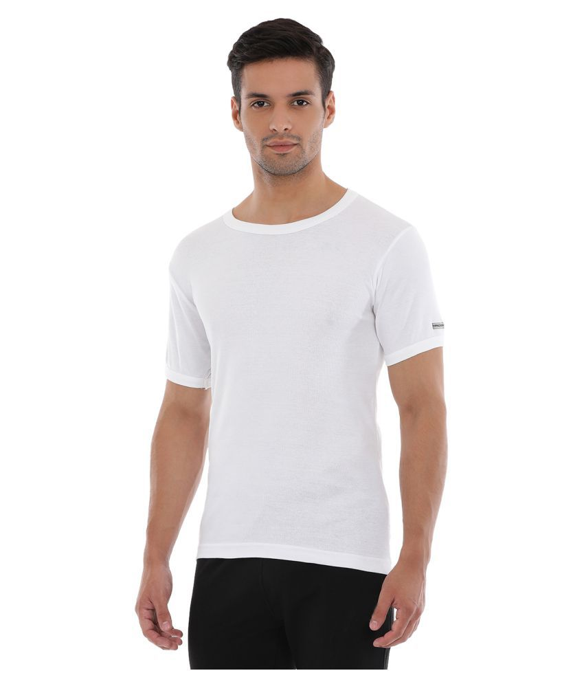730e4ef70510c3 Macroman White Cotton T-Shirt Pack of 4 - Buy Macroman White Cotton T-Shirt  Pack of 4 Online at Low Price in India - Snapdeal