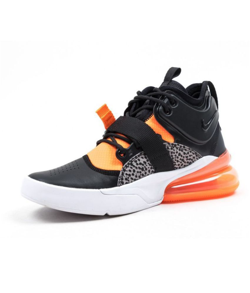 "a233c041e18 Nike AIR FORCE 270 ""SAFARI"" Black Running Shoes - Buy Nike AIR FORCE 270 "" SAFARI"" Black Running Shoes Online at Best Prices in India on Snapdeal"