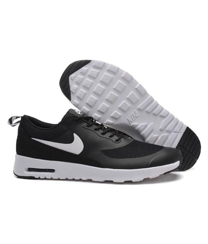 5d59a25e32535 Nike AIRMAX THEA Black Running Shoes - Buy Nike AIRMAX THEA Black Running  Shoes Online at Best Prices in India on Snapdeal