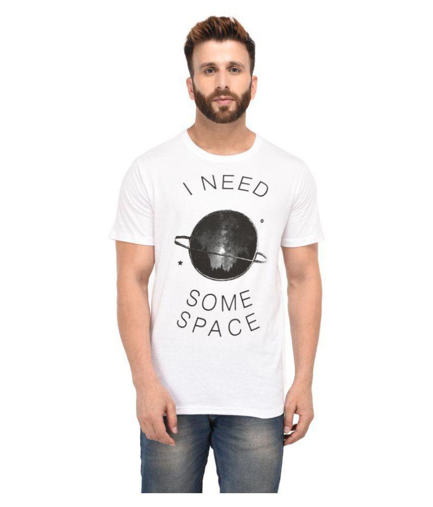 Jaaffi White Half Sleeve T-Shirt Pack of 1