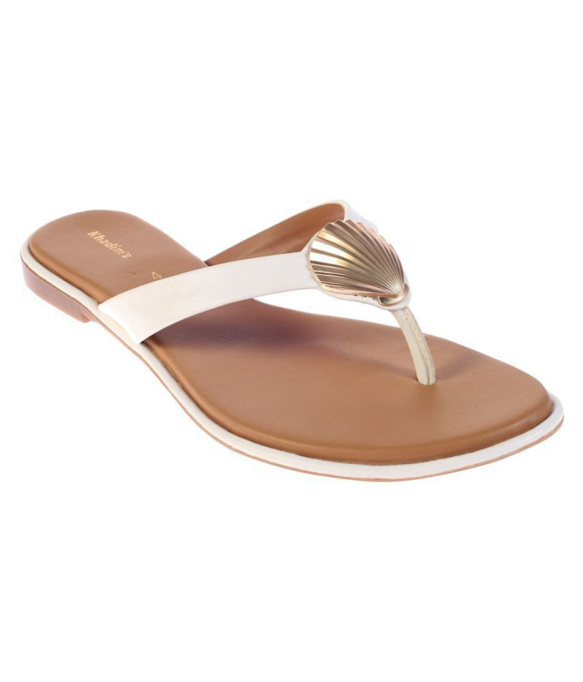 Khadim's White Slippers