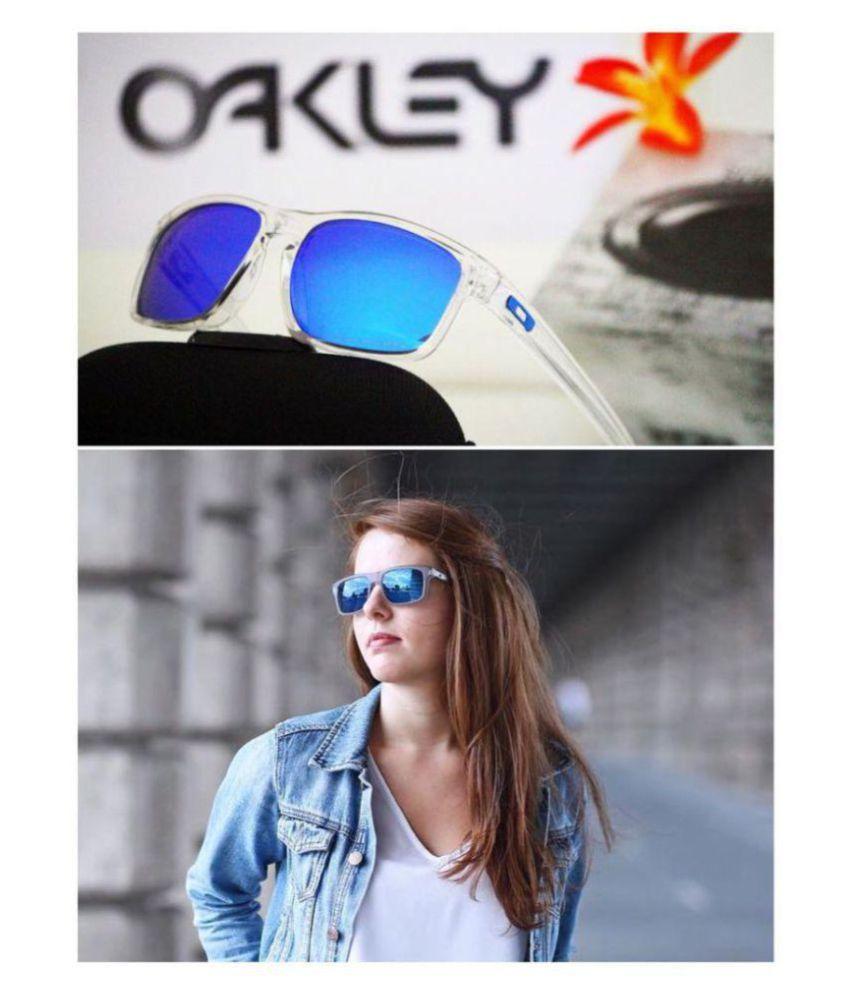 8815ac254db19 Oakley Sunglasses Ocean Blue Wrap Around Sunglasses ( 9377 ) - Buy Oakley  Sunglasses Ocean Blue Wrap Around Sunglasses ( 9377 ) Online at Low Price -  ...