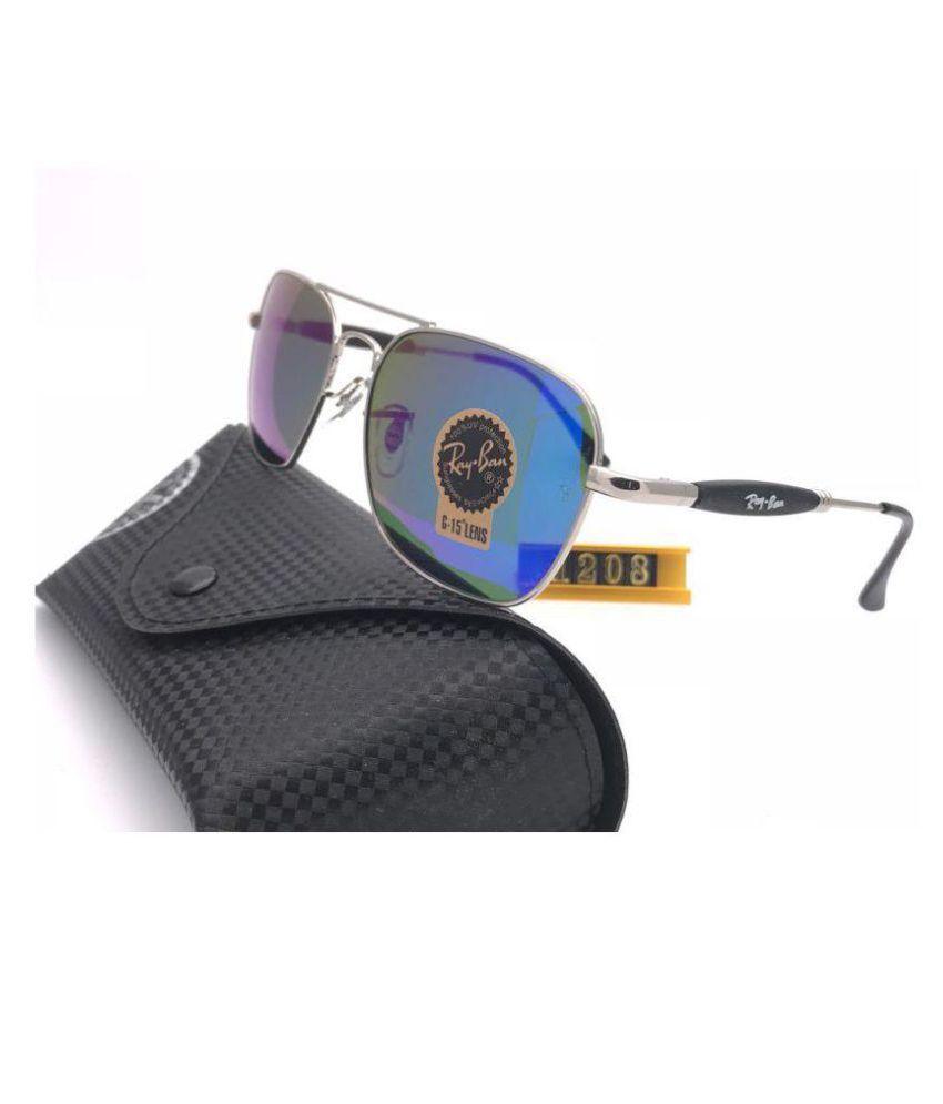 Ray Ban Sunglasses Blue Square Sunglasses ( RB1208 GBL )