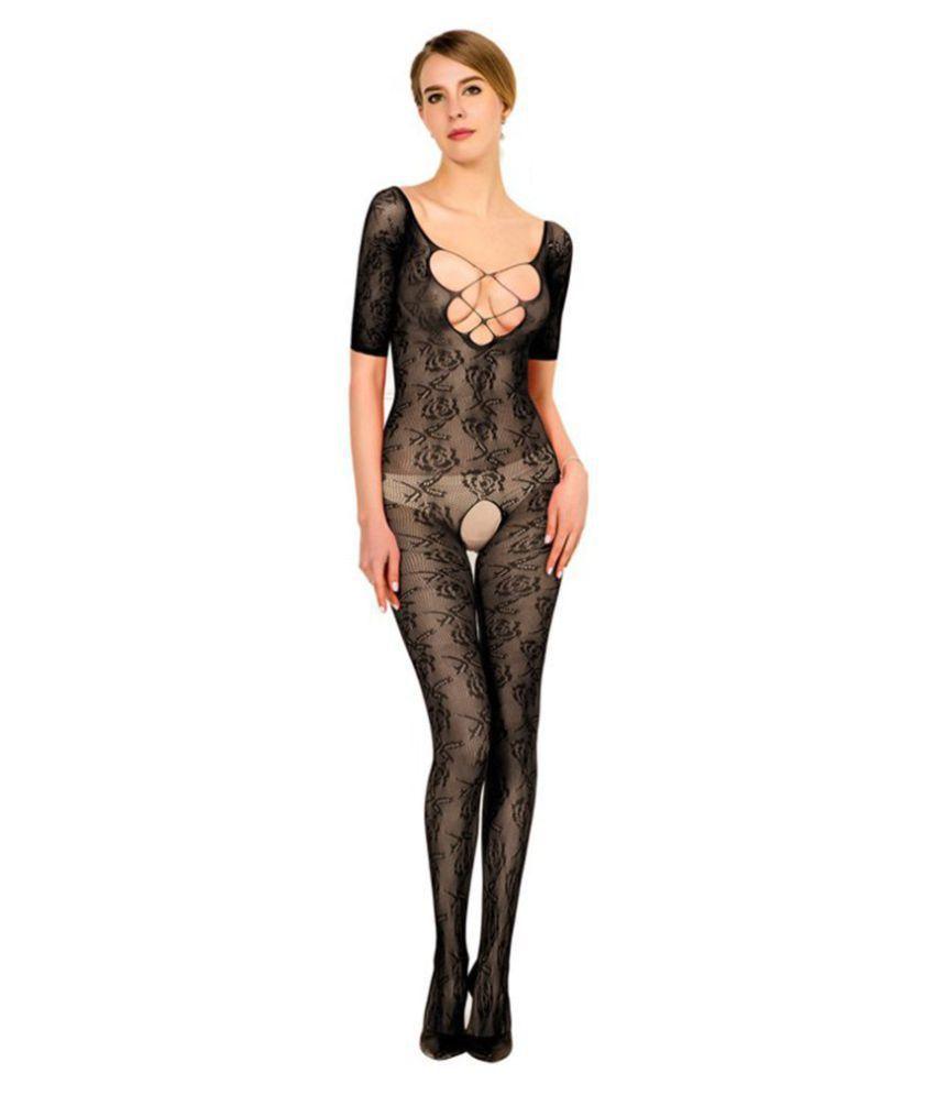 Gopalvilla Presents Black Color Full Body Stocking.