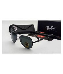 Trendy Fashion Black Aviator Sunglasses ( black3517 )