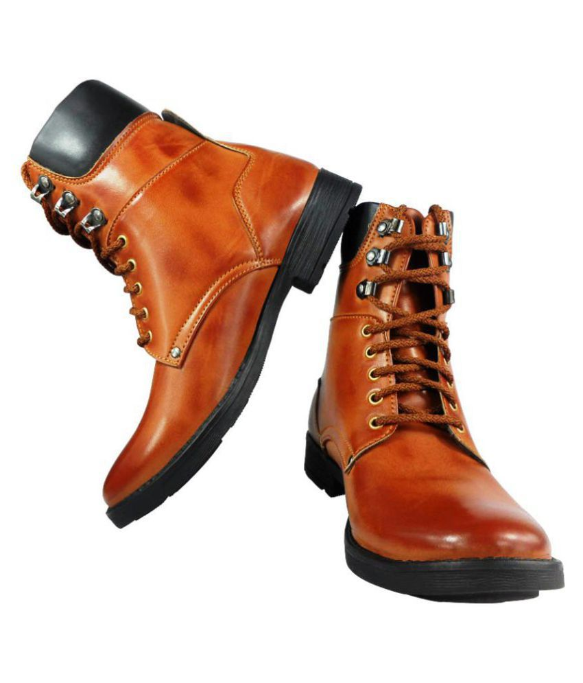 Elvace Tan Casual Boot