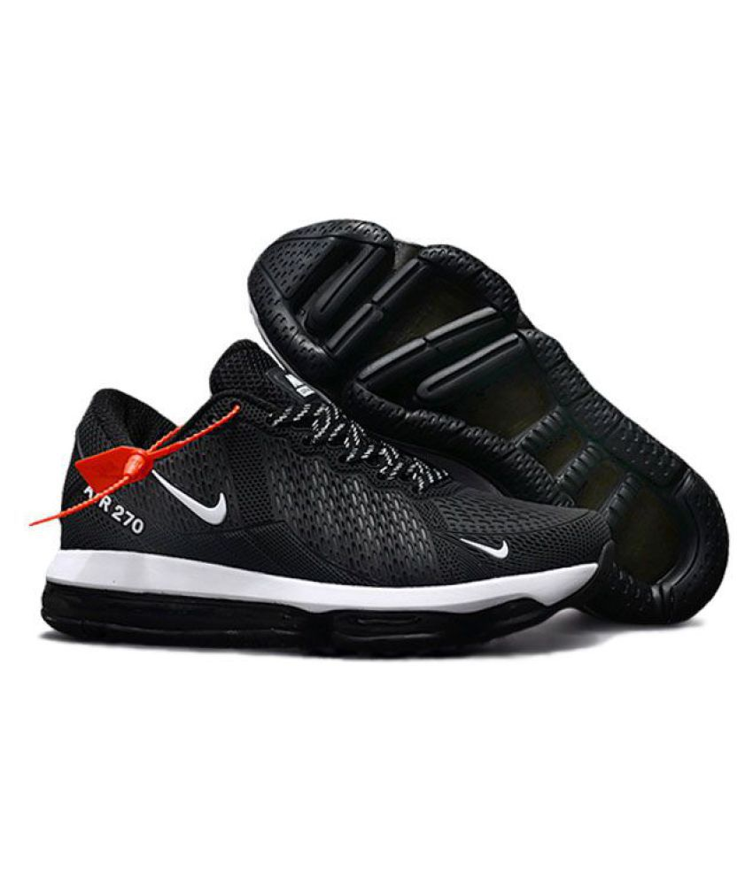 d11b3451f7 Nike Air Max 270 Latest 2018 Black Running Shoes - Buy Nike Air Max 270  Latest 2018 Black Running Shoes Online at Best Prices in India on Snapdeal