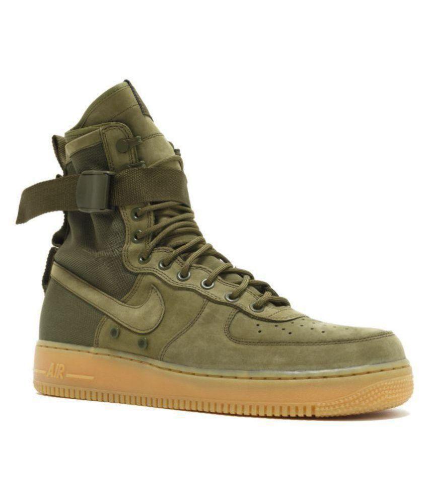 Nike Air Force Sf1 Green Tennis Shoes