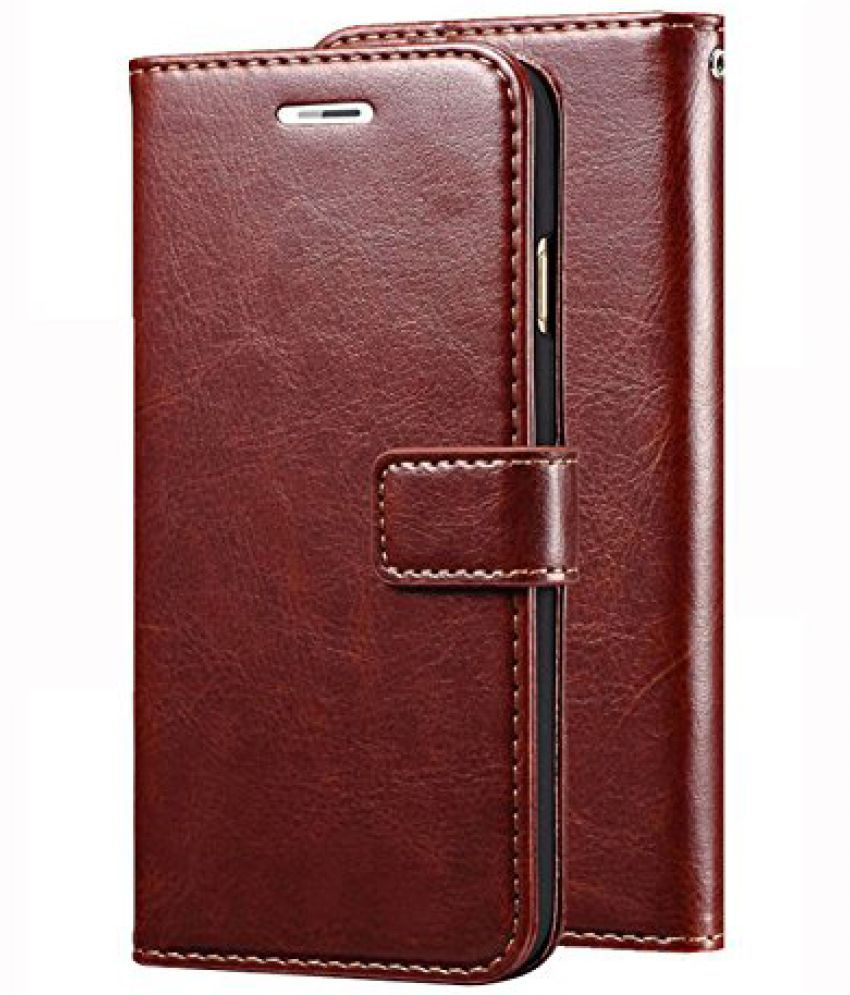 Nokia 6.1 Flip Cover by SESS XUSIVE - Brown