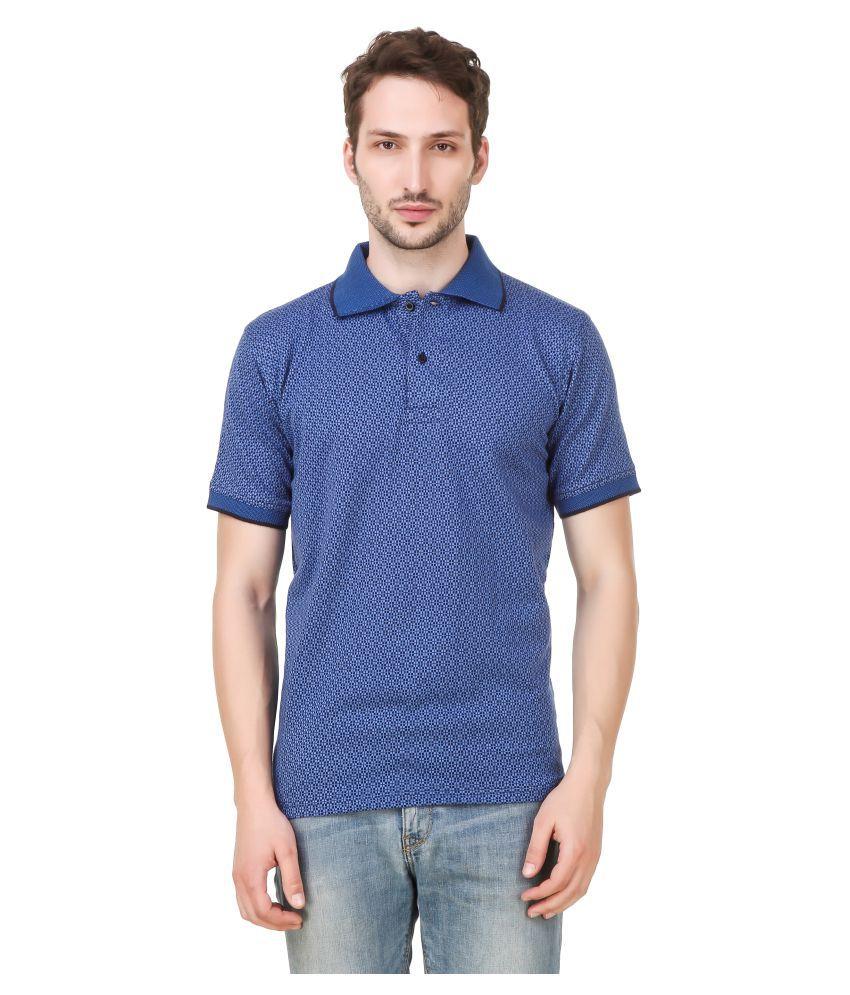 Vinayak Fashions Blue Half Sleeve T-Shirt Pack of 1