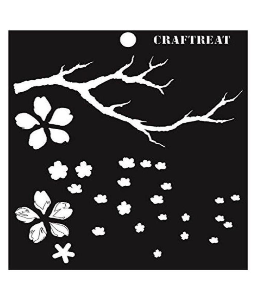 Cherry Blossom Flower Stencil: Cherry Blossom: Buy Online At