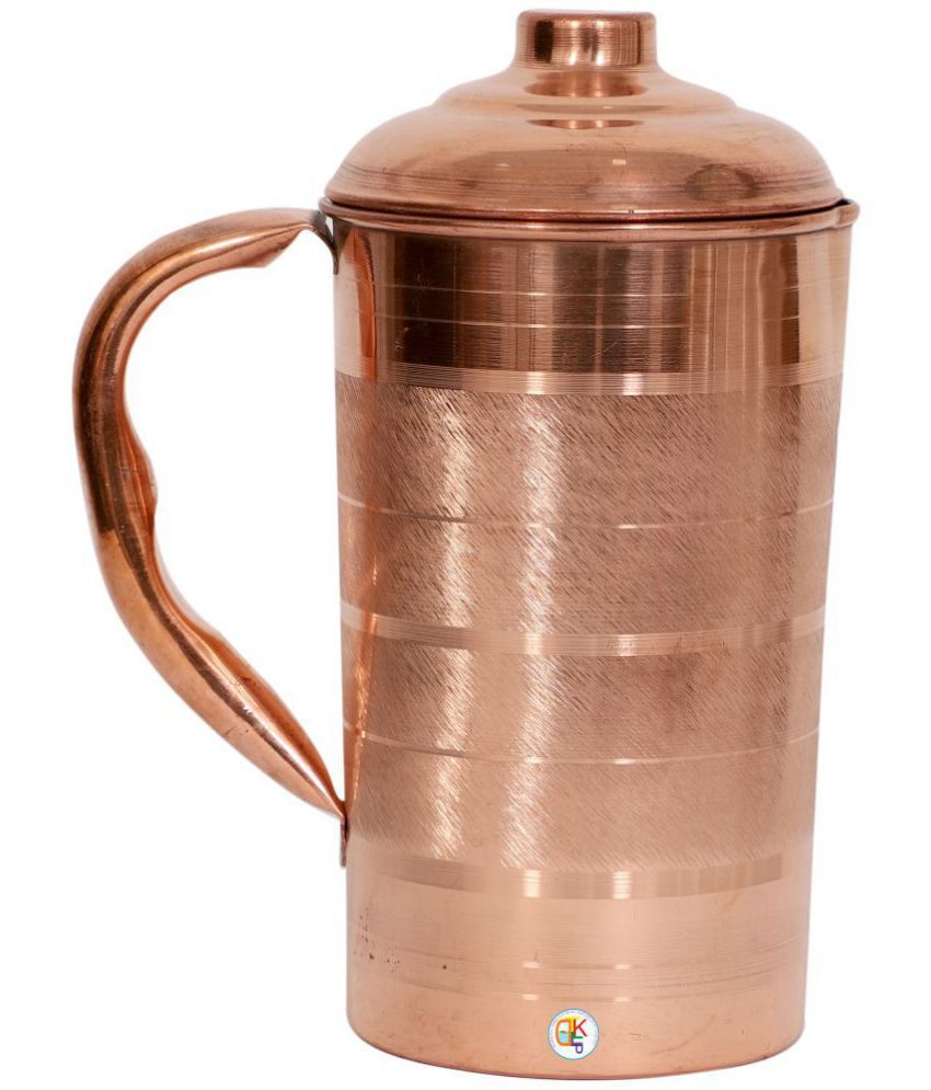 KDT Silver Touch Copper Jug Pitcher Copper Jugs 1250 ml