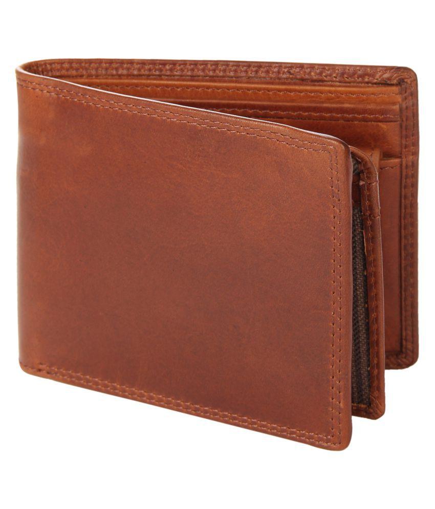 Leather Zentrum Leather Tan Casual Regular Wallet