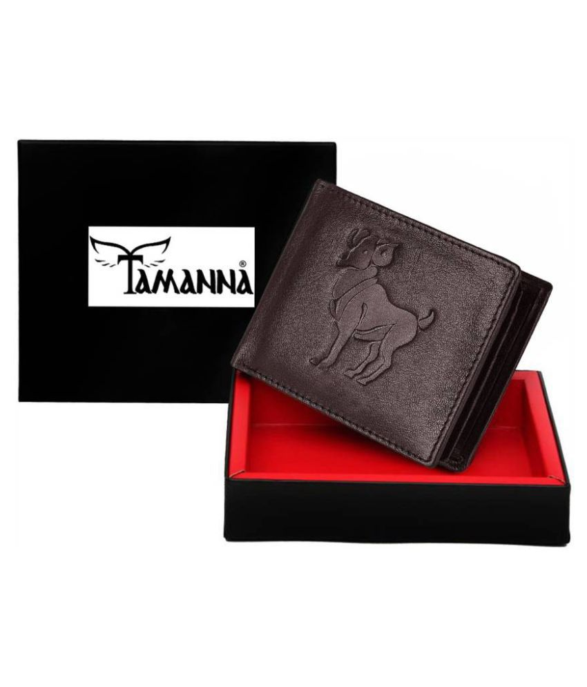Tamanna Leather Brown Casual Money Clipper