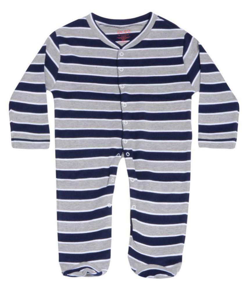 Gkidz Infants Striped Full sleeve Sleepsuit