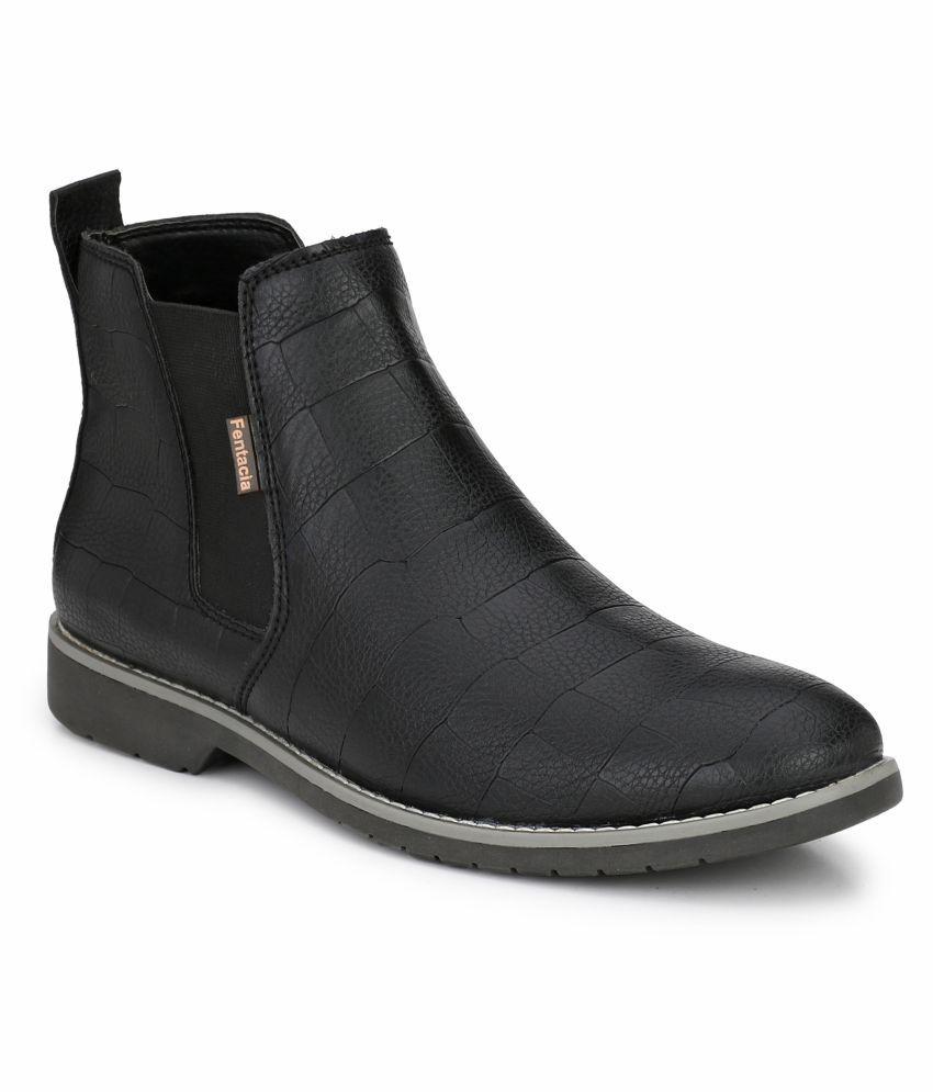 Fentacia Black Chelsea boot
