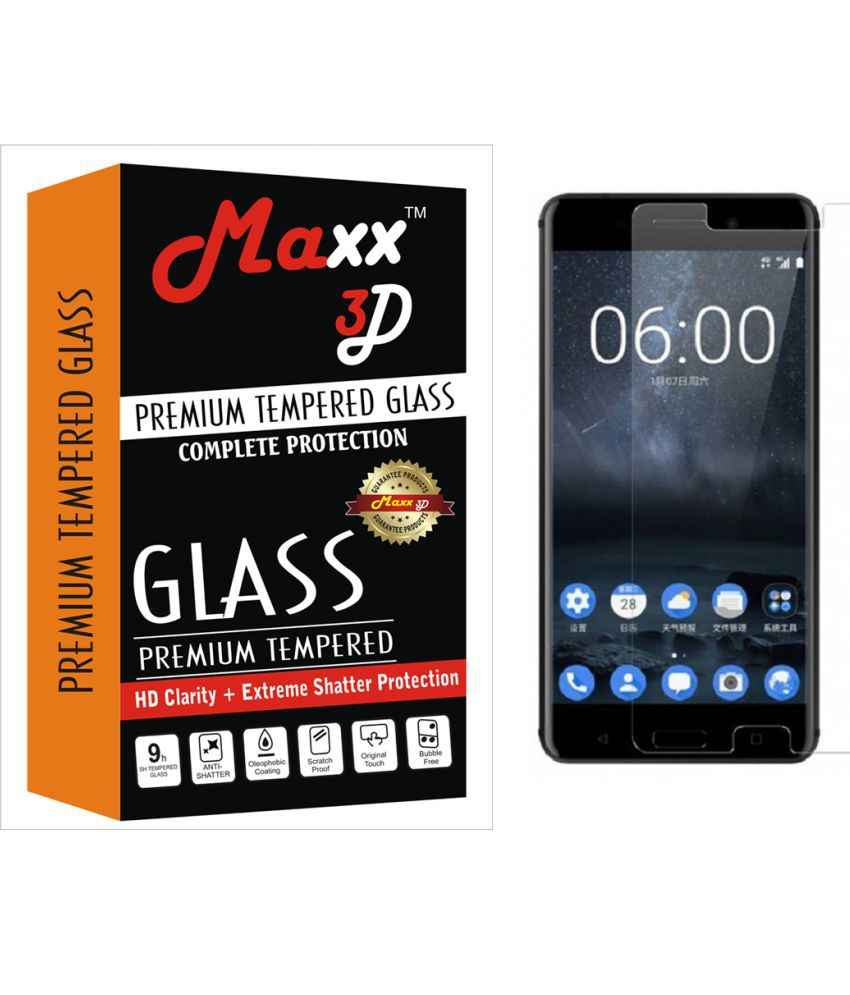 Nokia 6 Tempered Glass Screen Guard By MAXX3D