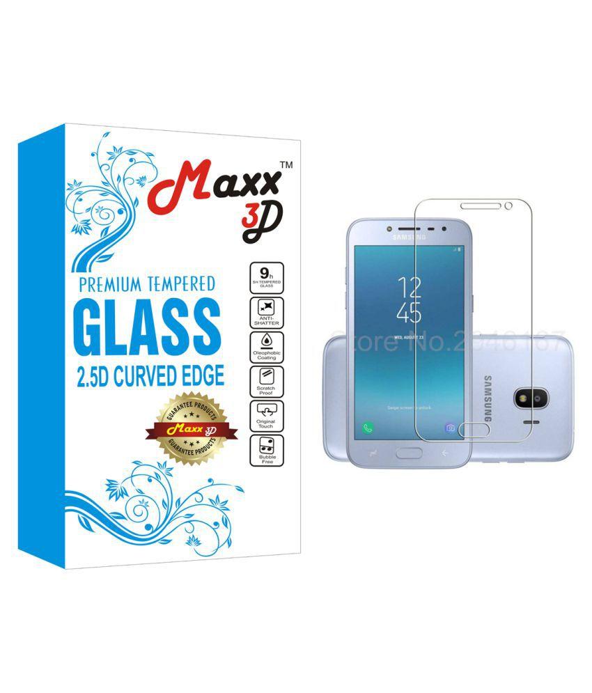 Samsung Galaxy J2 2018 Tempered Glass Screen Guard By MAXX3D