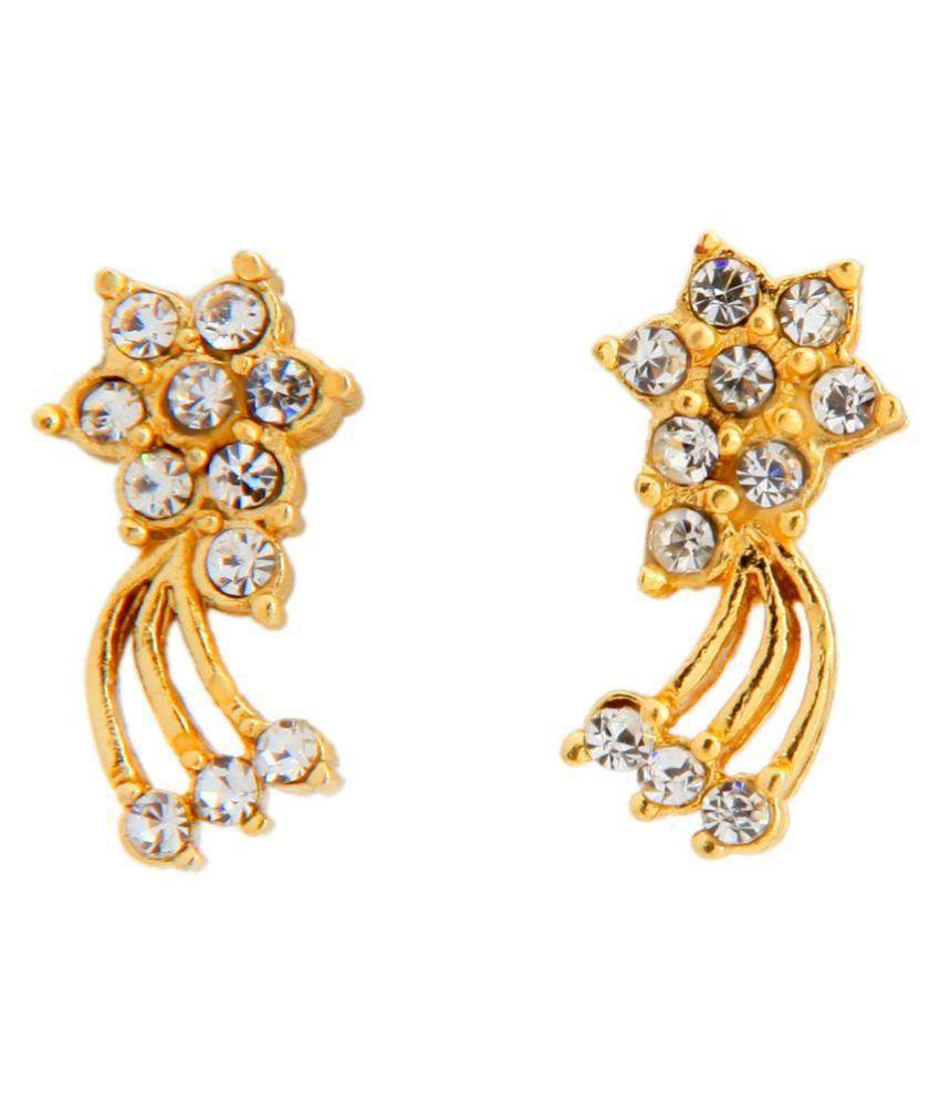Touchstone Gold Plated Earrings  For Women