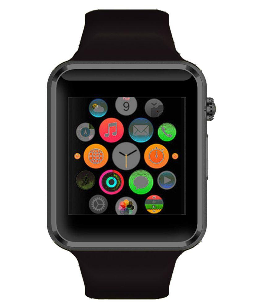 WOKIT Smartwatch Suited Intex Aqua Curve MiniBlack Smart Watches