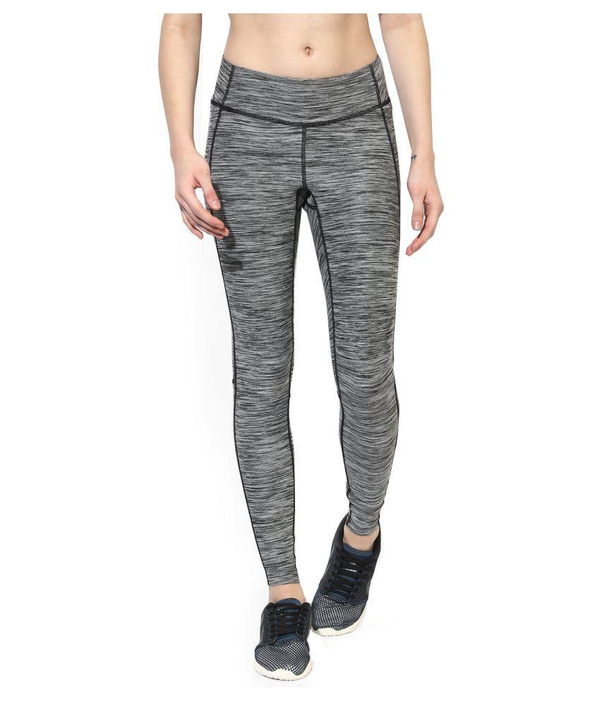 Zesteez Women Grey leggings ultra stretchable gym-workout leggings in premium Quality fabric ||  GYM || YOGA|| Active-wear || Sportswear|| Running