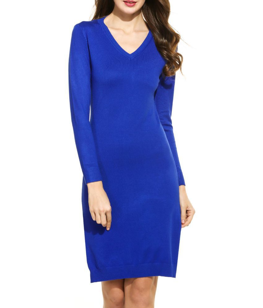 Generic Cotton blue Asymmetric dress