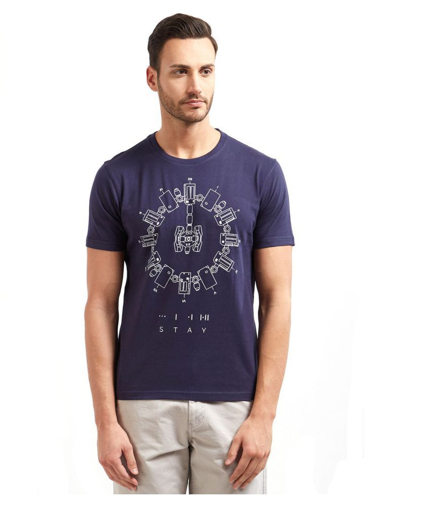 Redwolf Navy Half Sleeve T-Shirt