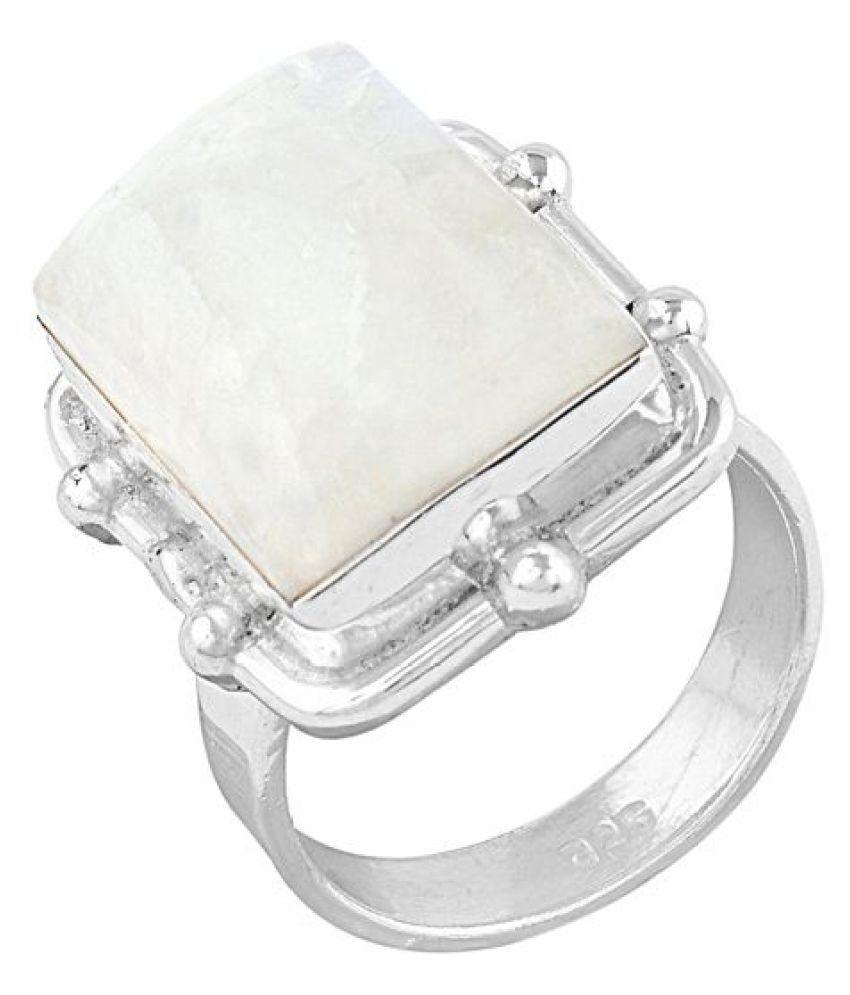 Zivah 92.5 Silver Moonstone Ring