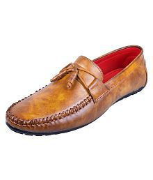 MESSI Tan Loafers