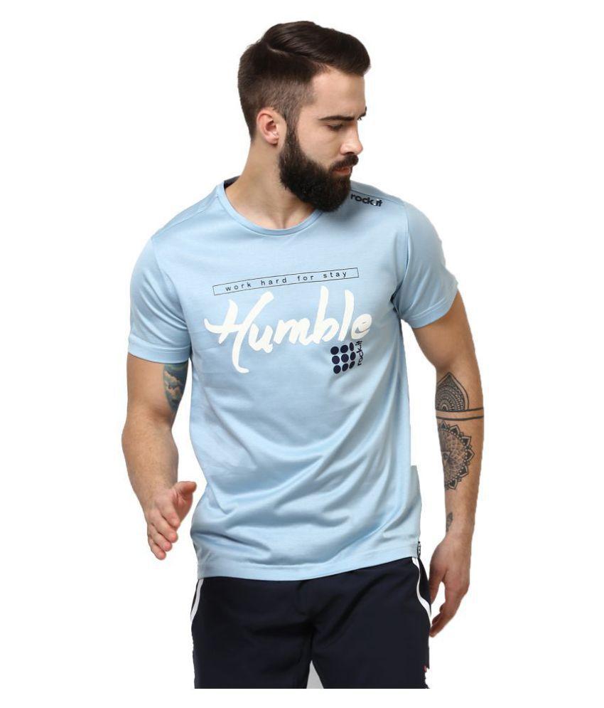 Rock.it Blue Cotton T-Shirt