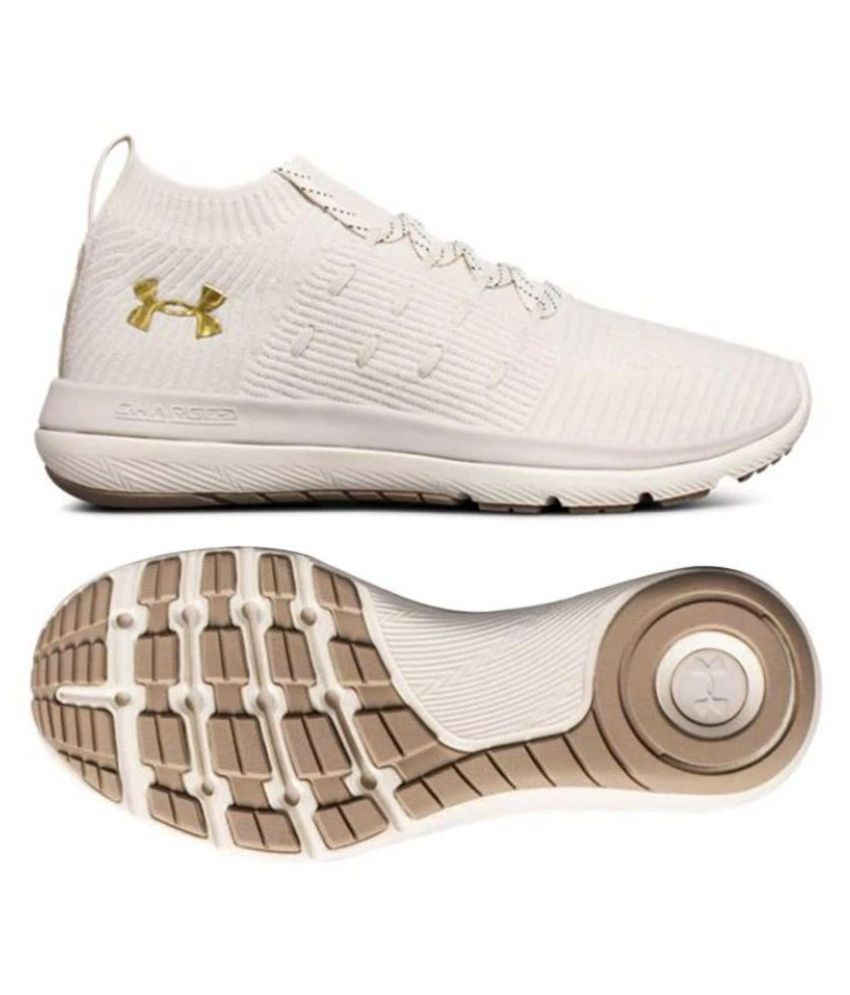 best service 10e49 3fa25 Under Armour Slingflex Rise CHARGED 2018 White Running Shoes