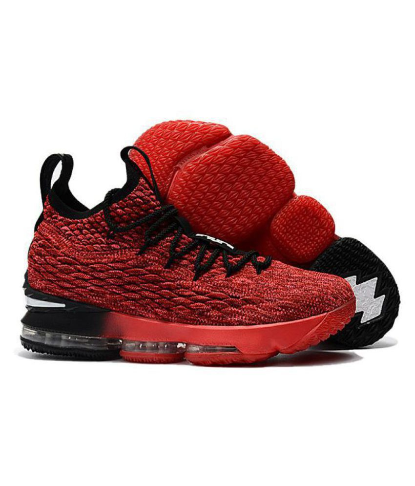 hot sales cc361 536c7 Nike LEBRON 15 PE Red Basketball Shoes